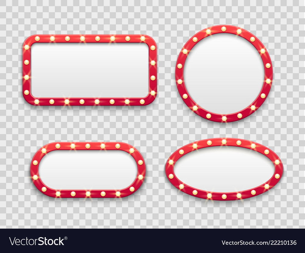 Marquee light frames vintage round and