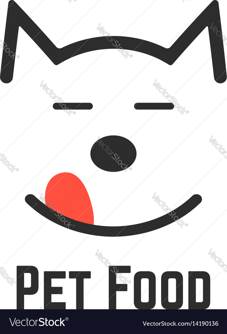 Pet food logo with dog icon