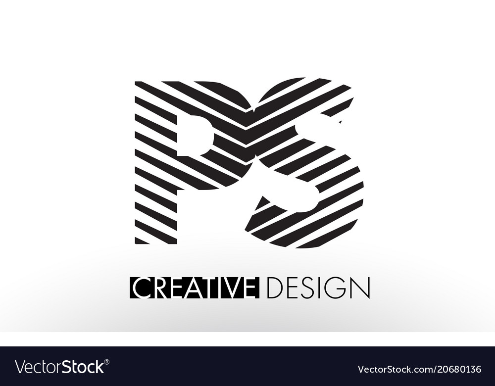 Ps p s lines letter design with creative elegant vector image thecheapjerseys Images