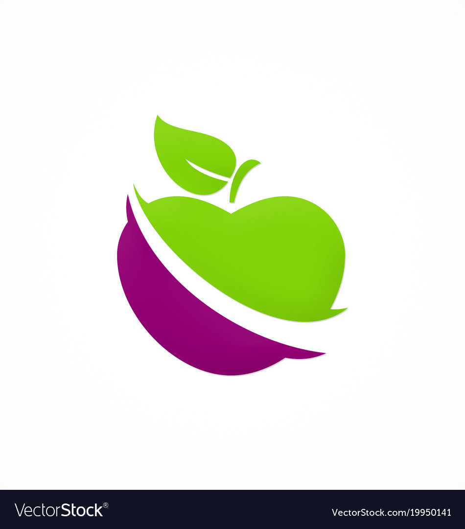Apple fruit vegetable logo