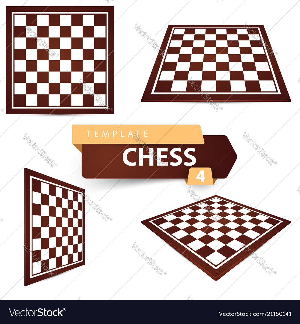 Chess Template Four Items Game Board