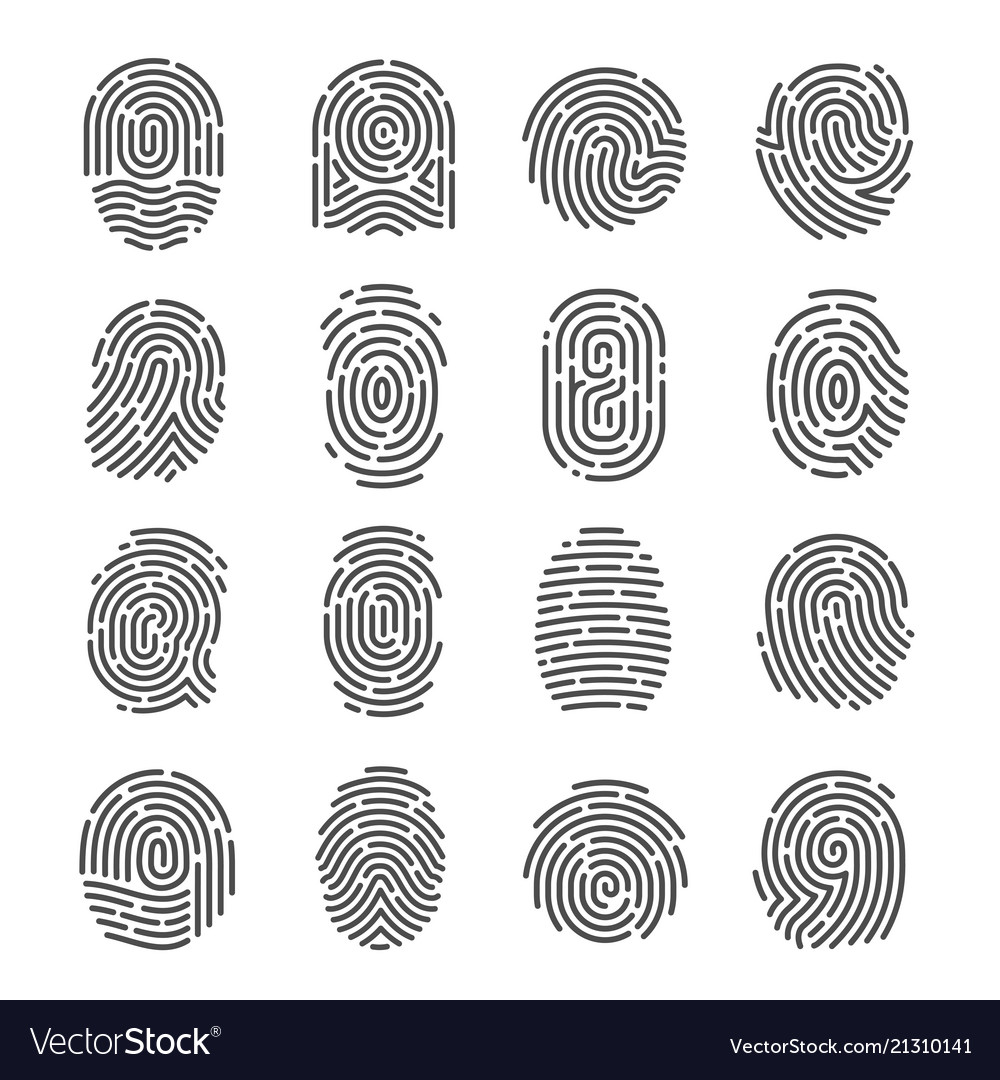 Fingerprint icon set