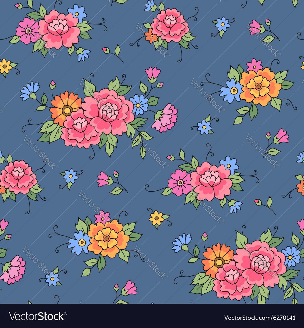 Floral pattern grey