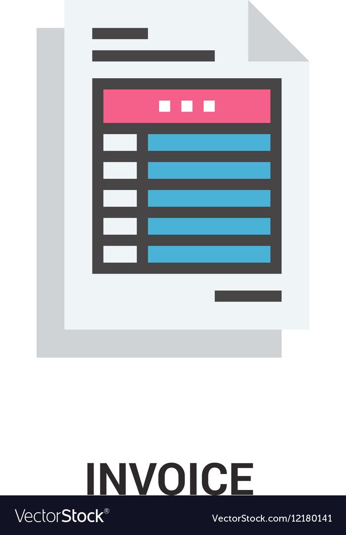 Invoice icon concept vector image