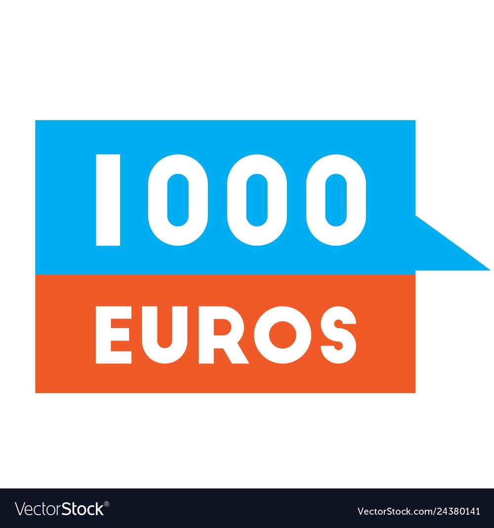 One thousand euros advertising sticker
