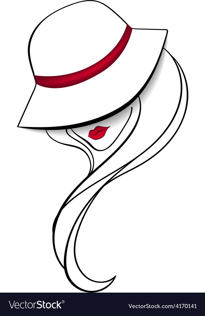 2fb929f7d6f Women in a vintage hat Royalty Free Vector Image