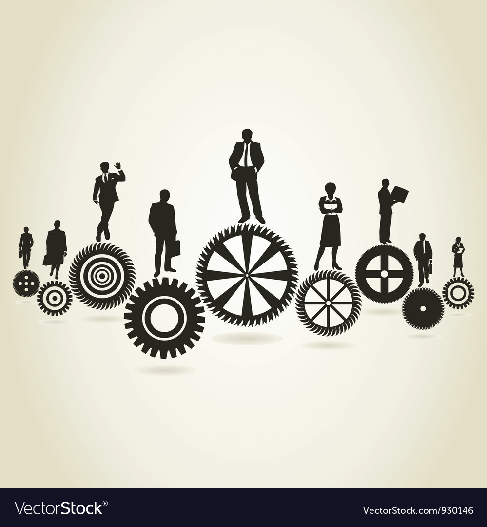 Business a gear wheel vector image