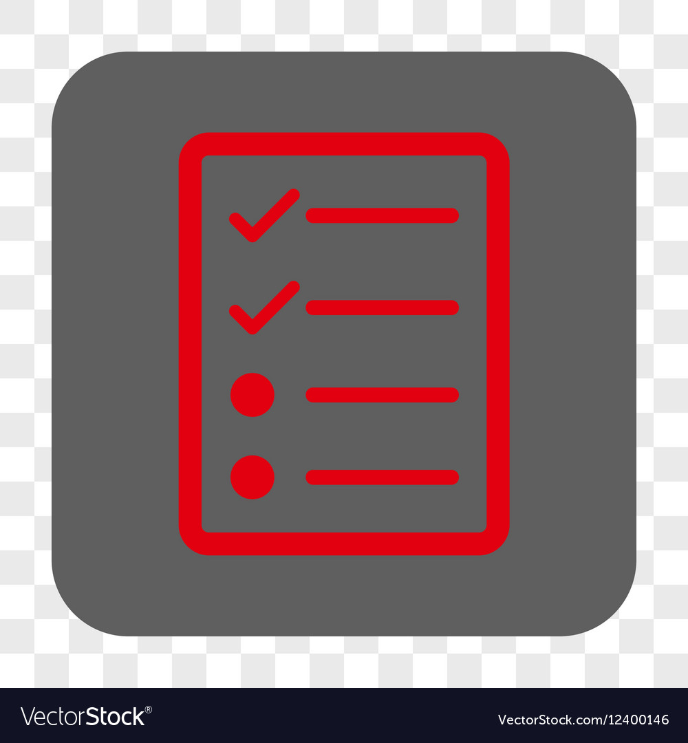 Checklist Page Rounded Square Button