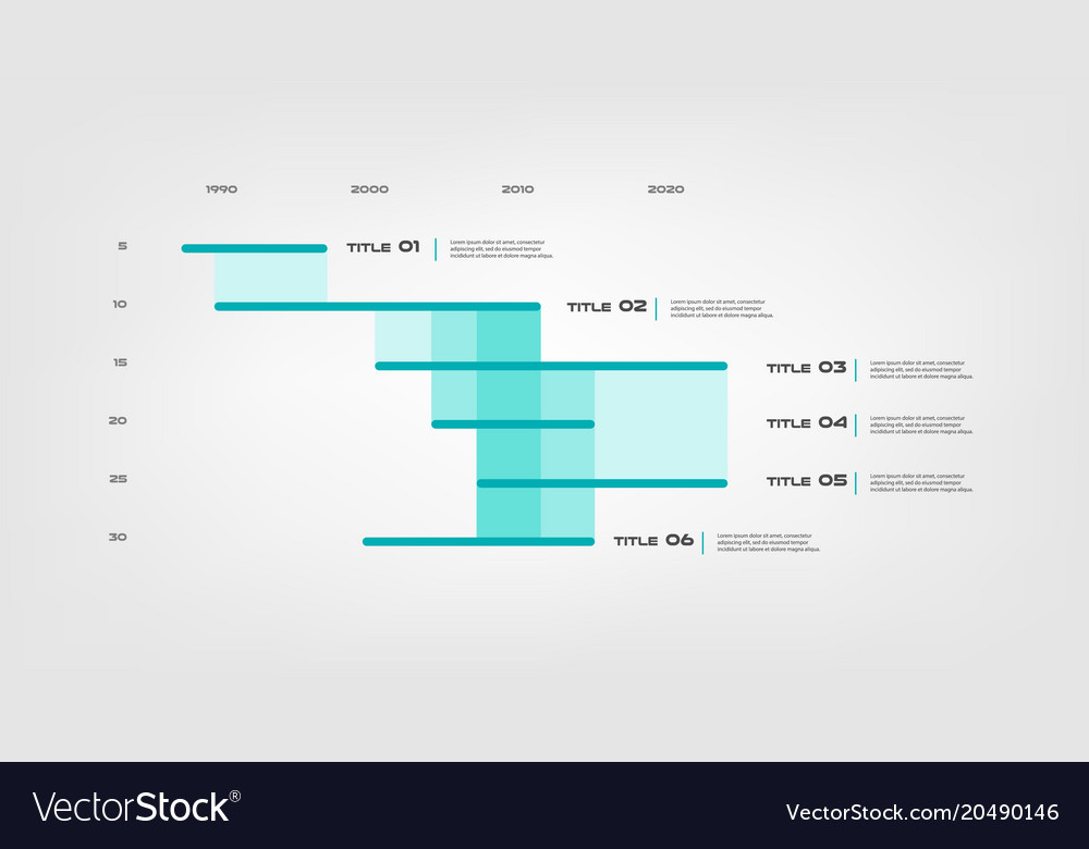 Gant infographic element of chart graph diagram vector image ccuart Images