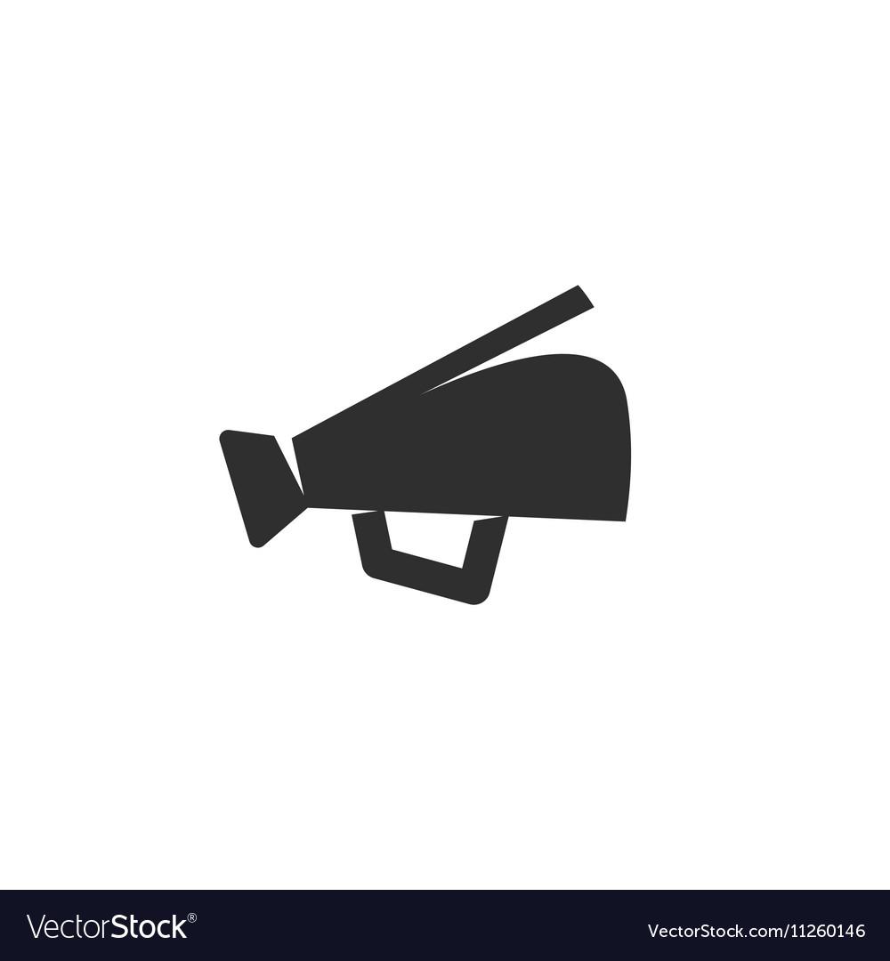 Megaphone Icon logo on white background vector image