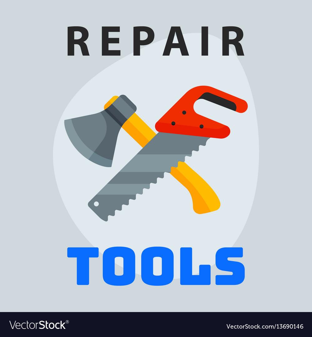Repair tools hammer trowel icon creative graphic