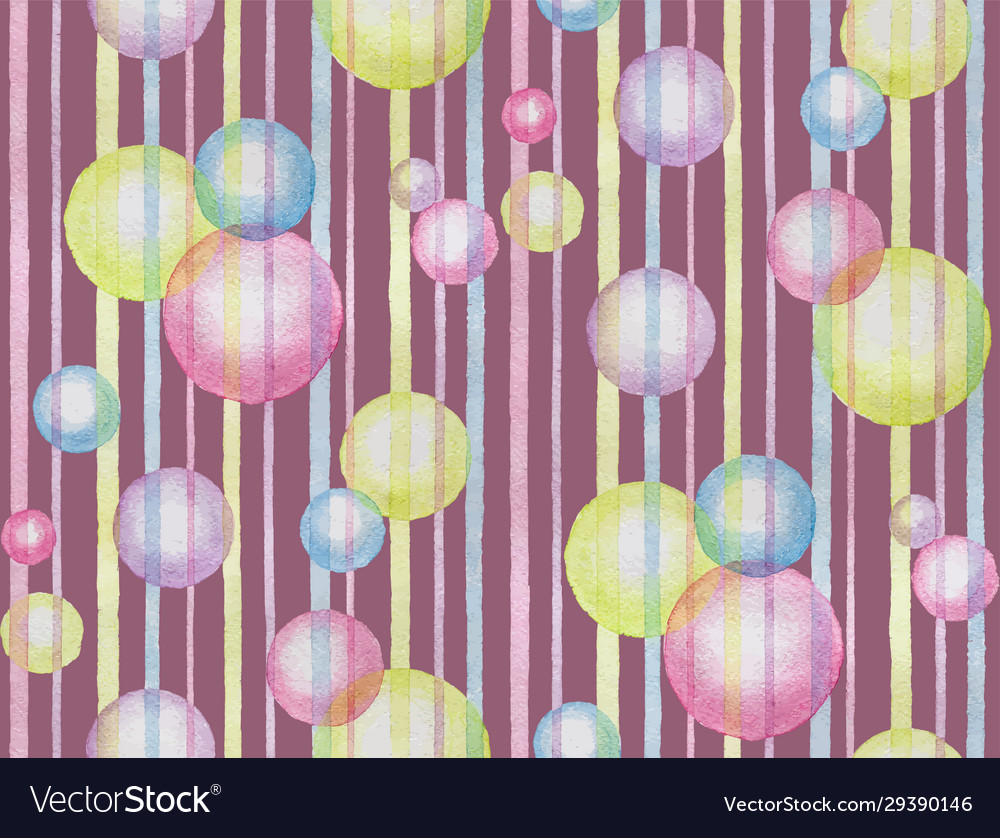 Watercolor violet abstract seamless pattern vector