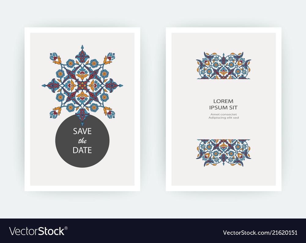 Arabesque floral decoration print border design