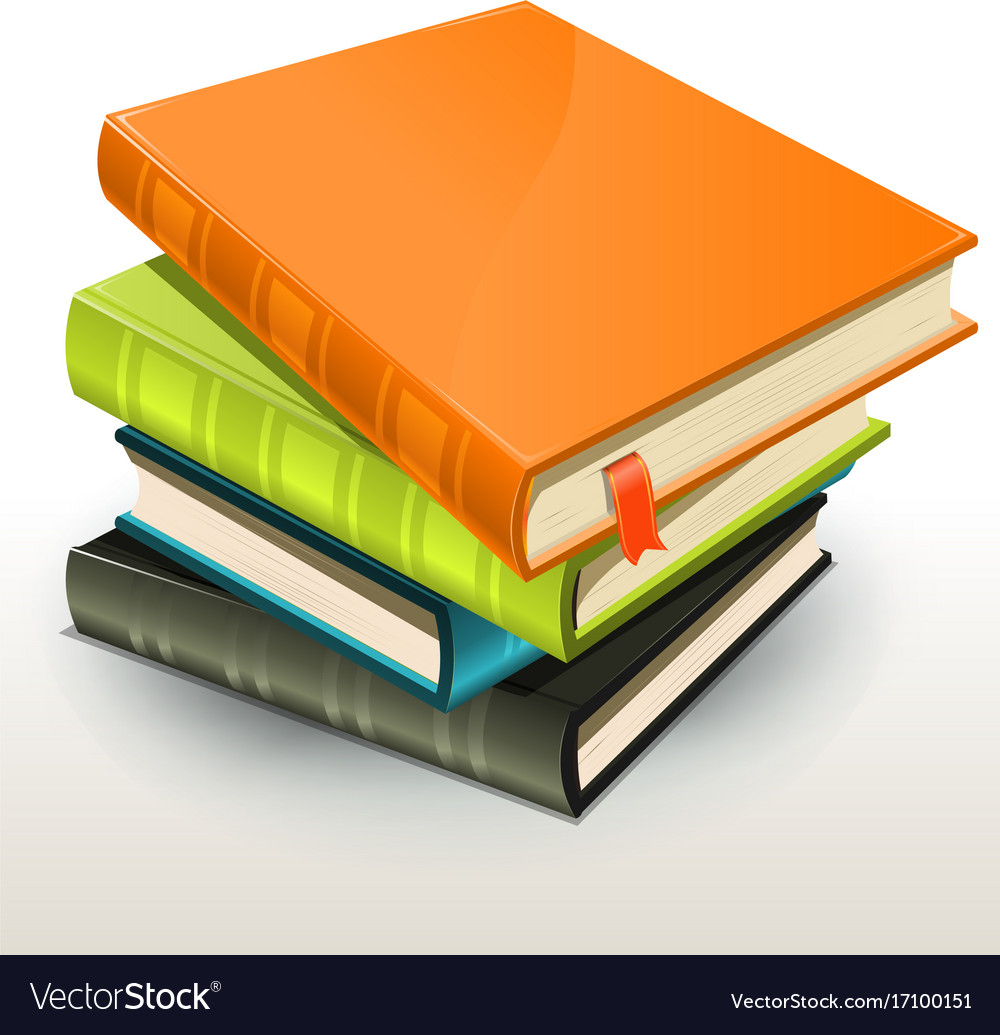 books and pics albums pile royalty free vector image rh vectorstock com vector books bayonne nj victor books publishing