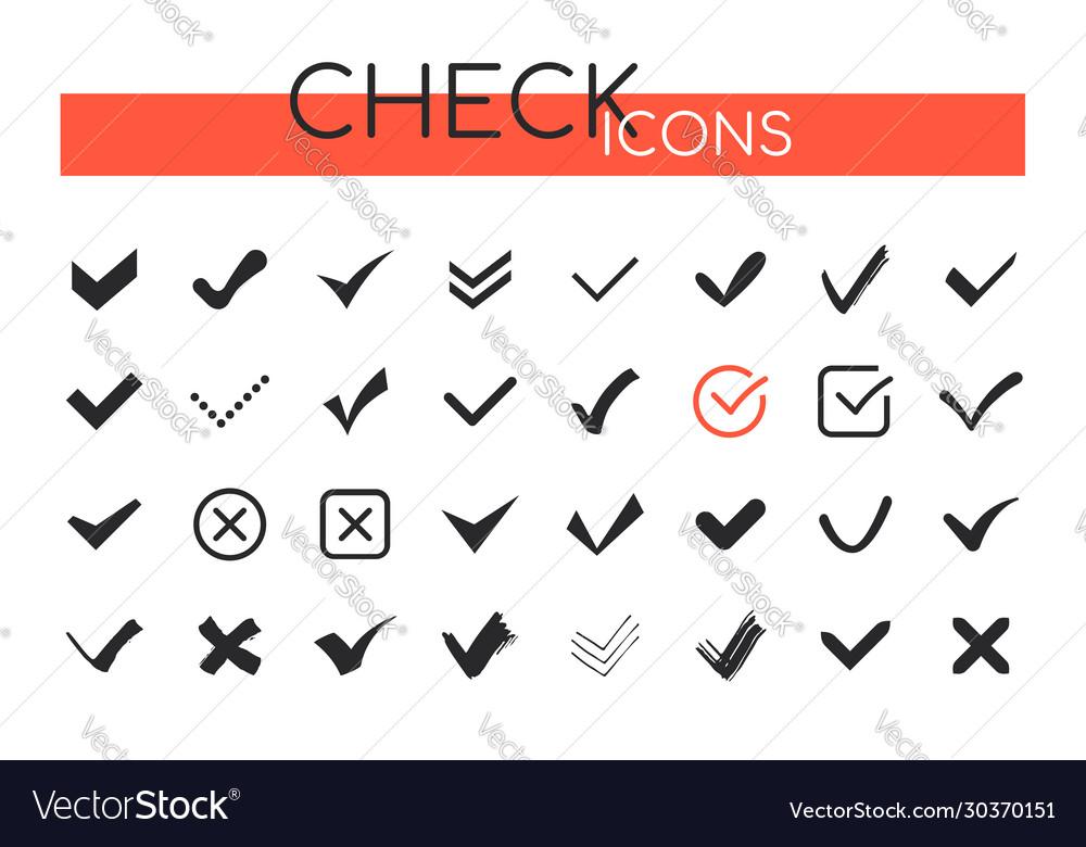 Check marks icons - set web elements