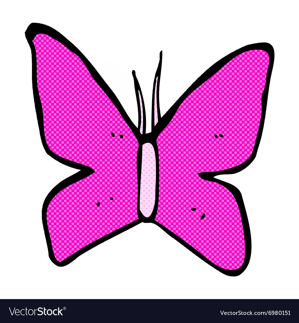 Comic cartoon butterfly symbol