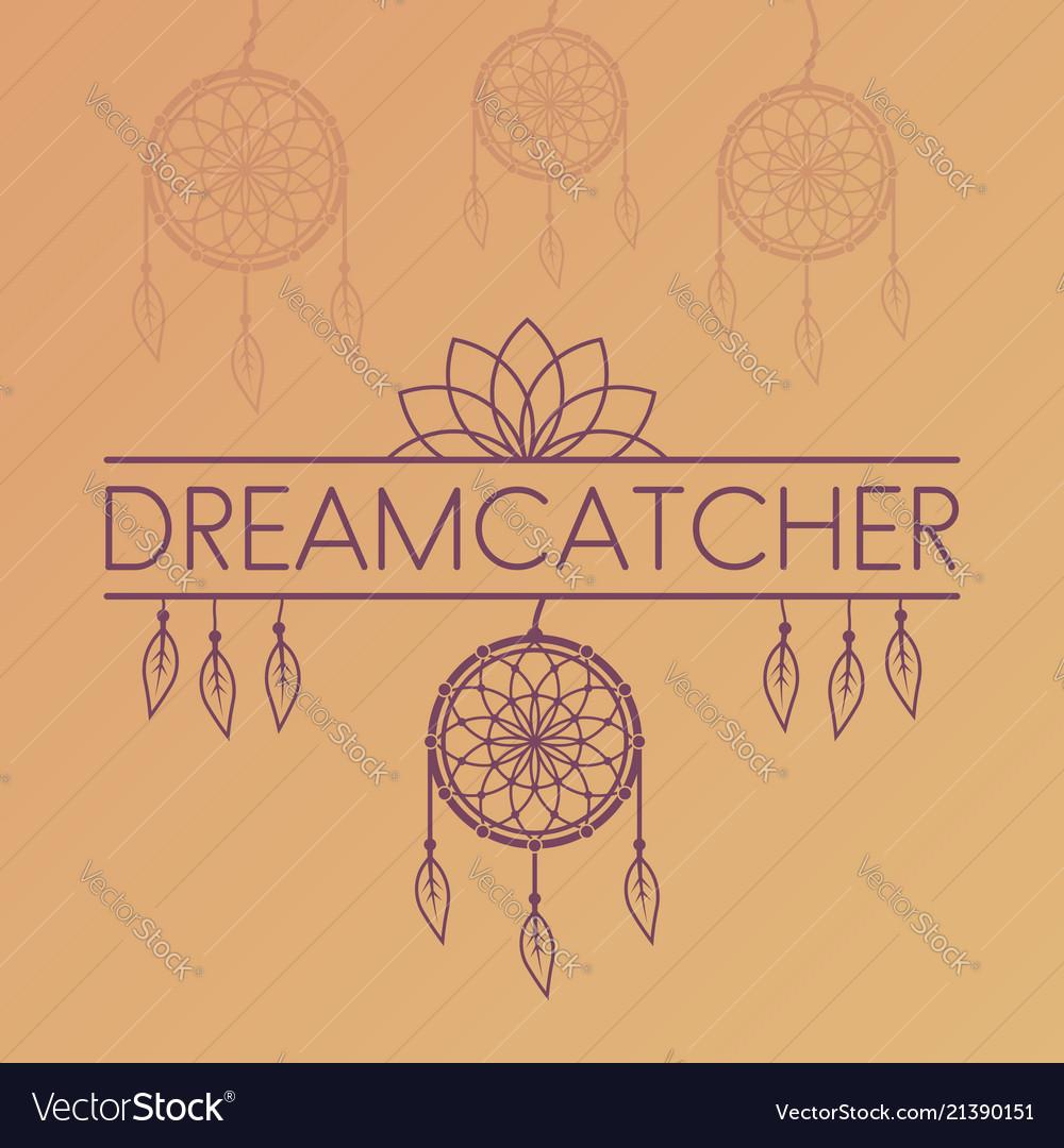 Dreamcatcher poster on gradient background