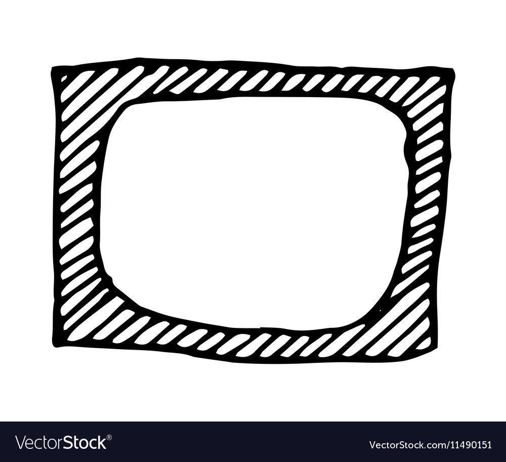 Hand Drawn Rectangle Frame Royalty Free Vector Image Seeking more png image hand drawn stars png,hand drawn border png,hand drawn banner png? vectorstock