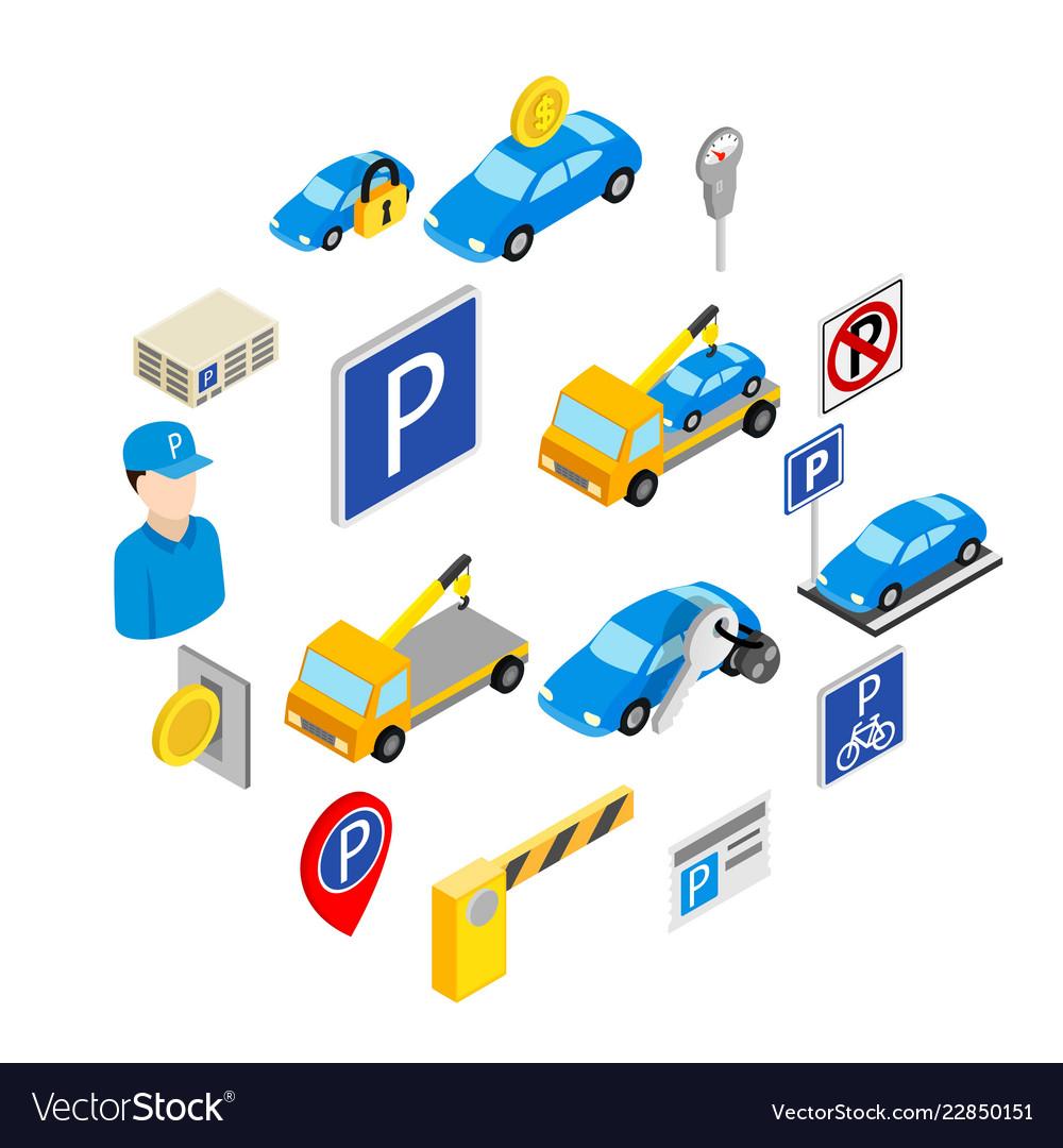 Parking set icons
