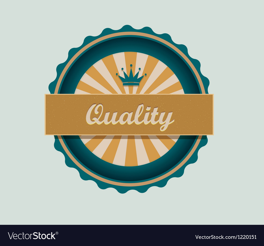 Retro quality label