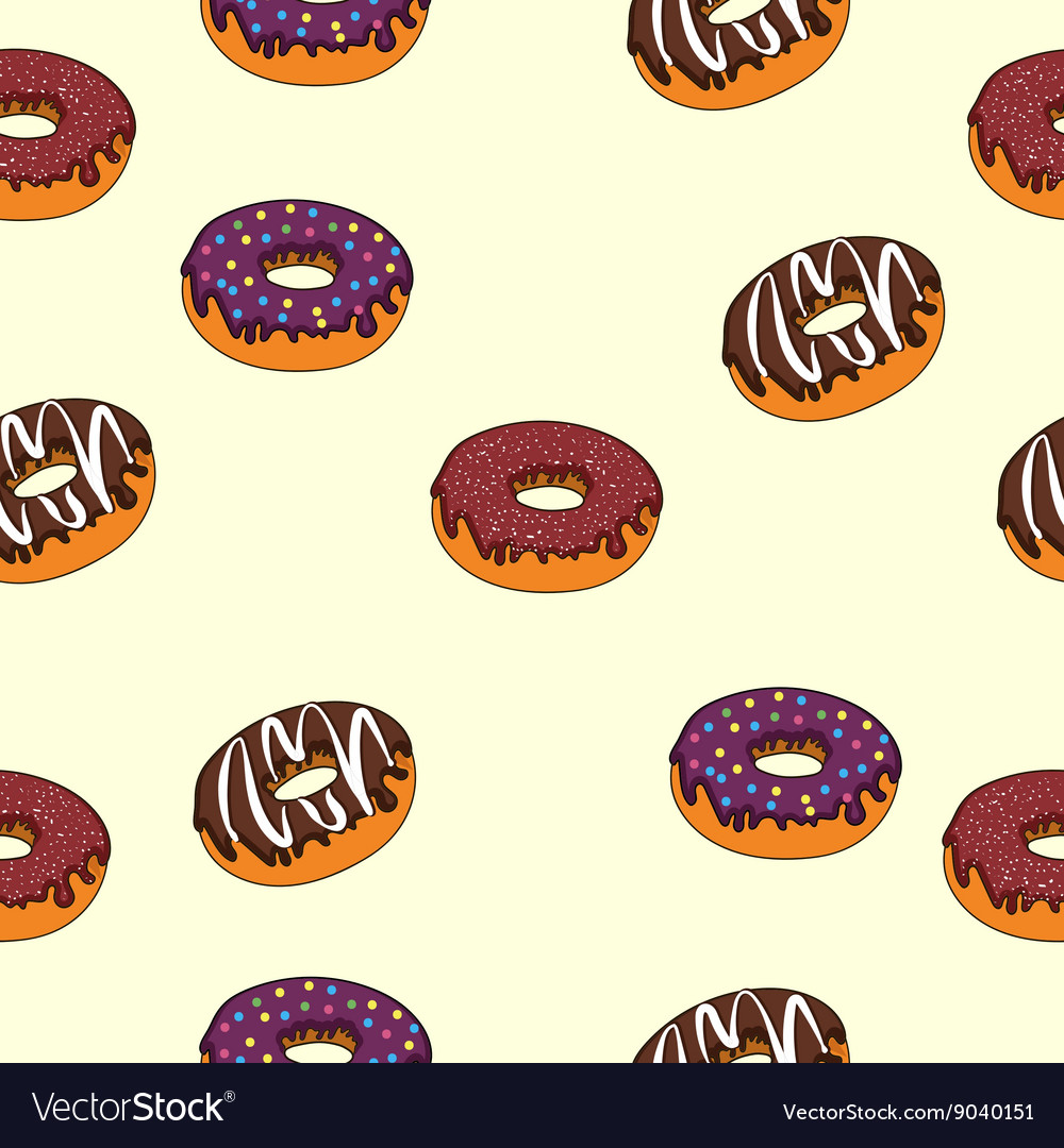 Seamless texture delicious donuts