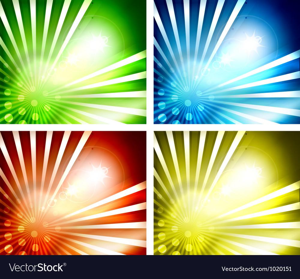 Set of shiny backgrounds
