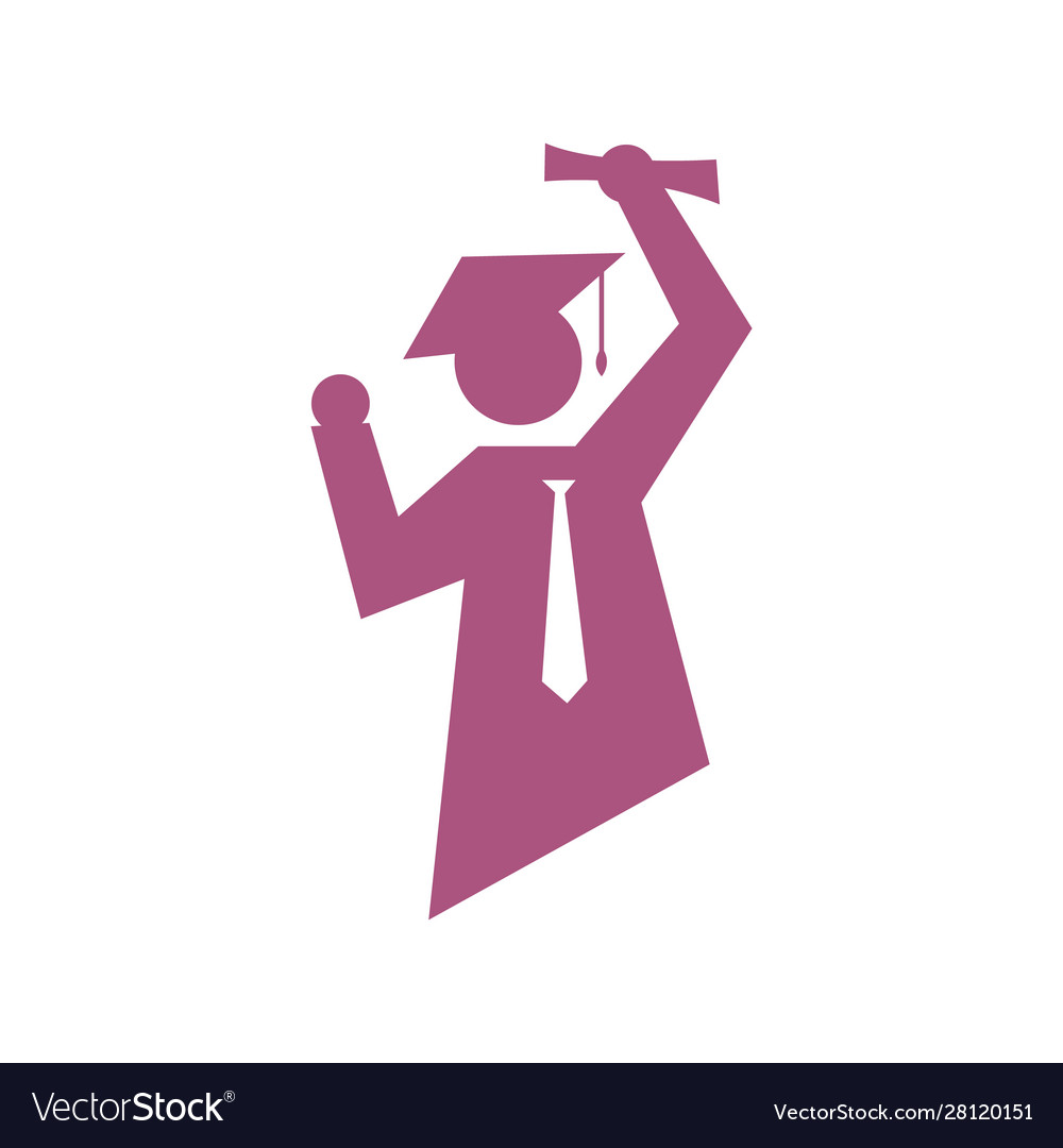 Success student logo graduation sign logo symbol
