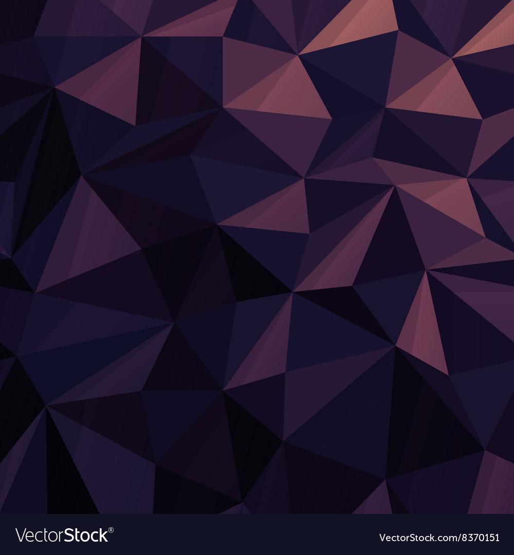 Triangular Low Poly Dark Blue Pattern