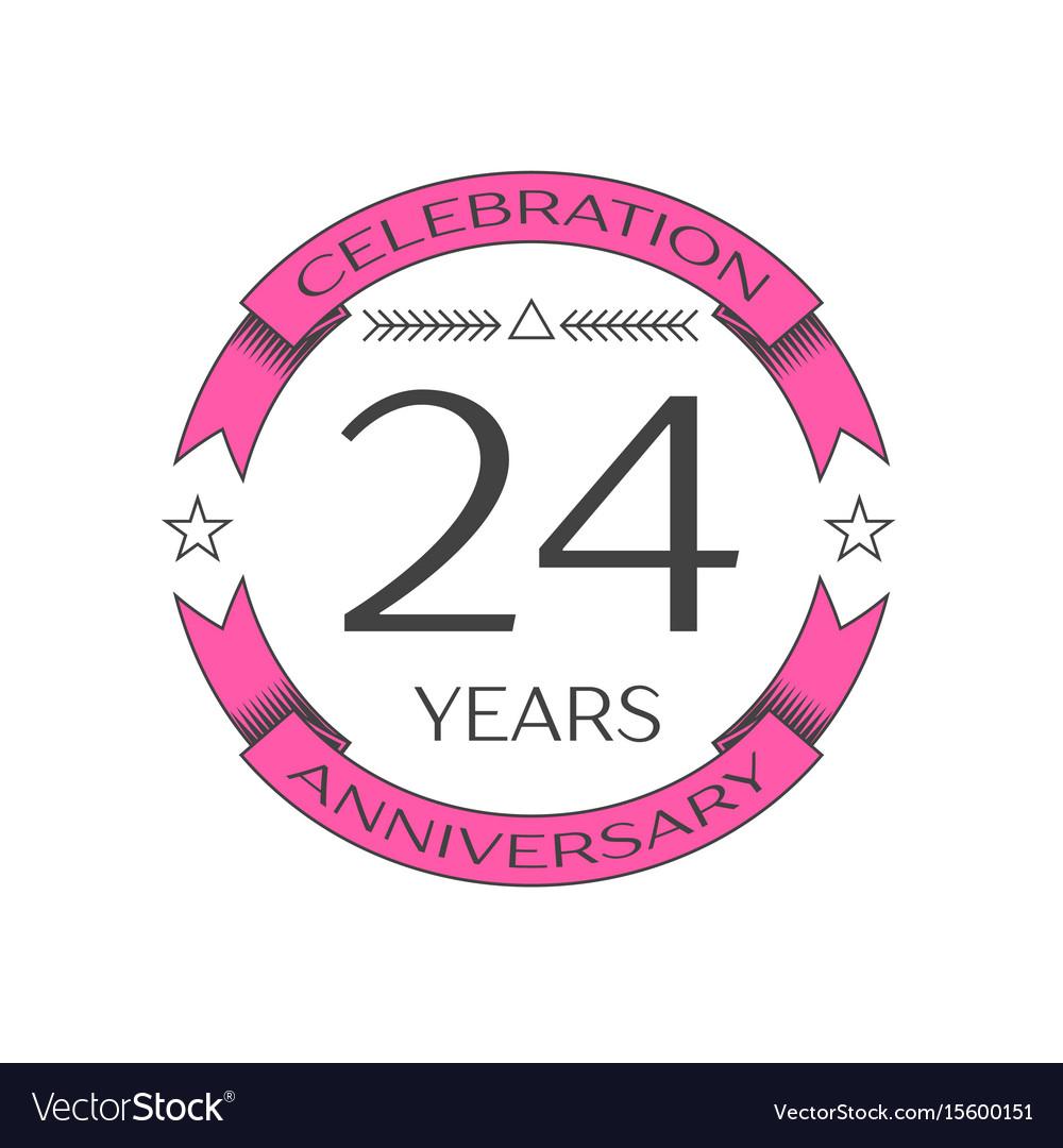 Twenty four years anniversary celebration logo