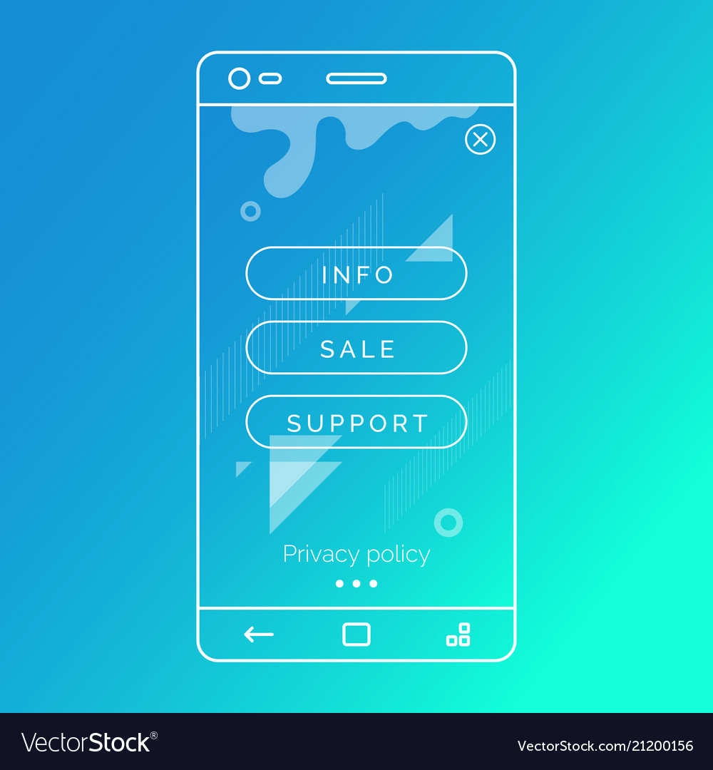 Abstract background for mobile applications