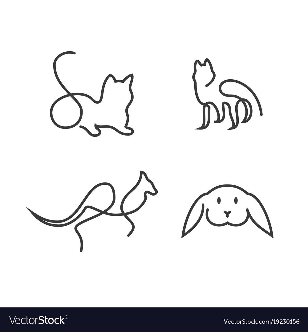 Animal line logo
