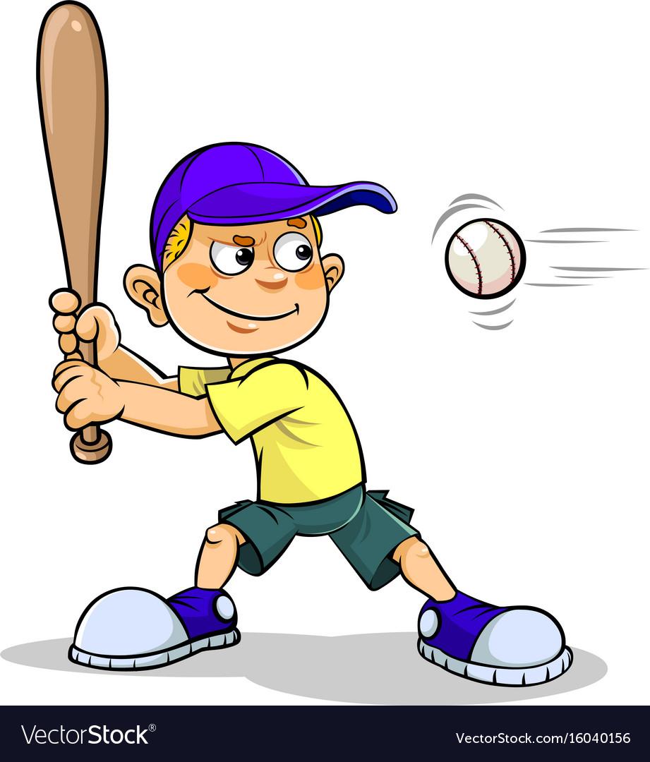 Baseball boy. Playing