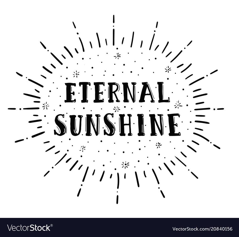 Eternal sunshine lettering