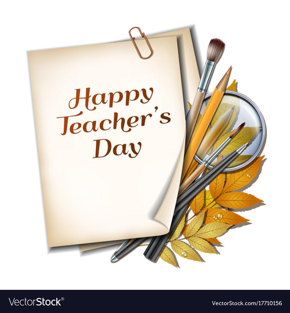 Teacher s day card