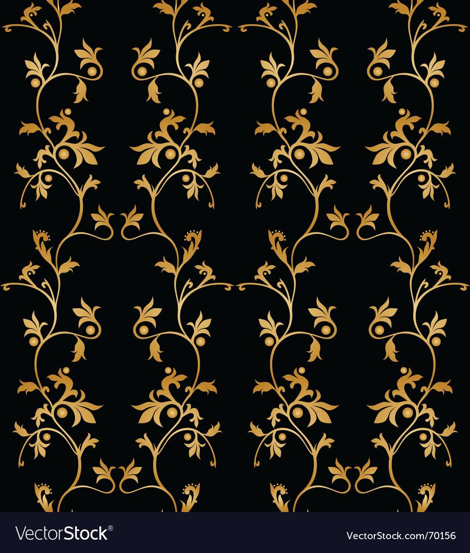 Vintage Floral Wallpaper Royalty Free Vector Image