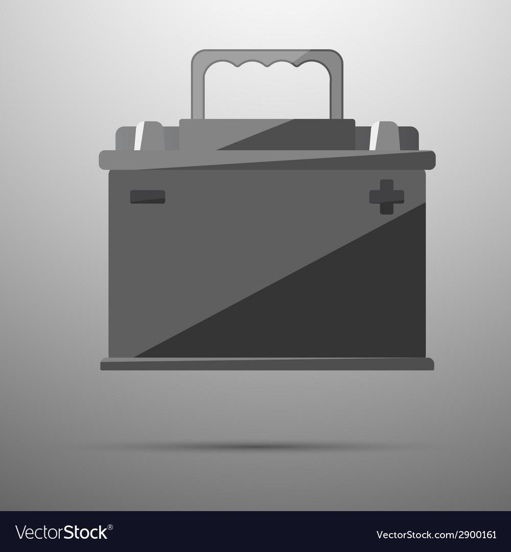 12v car battery vector image