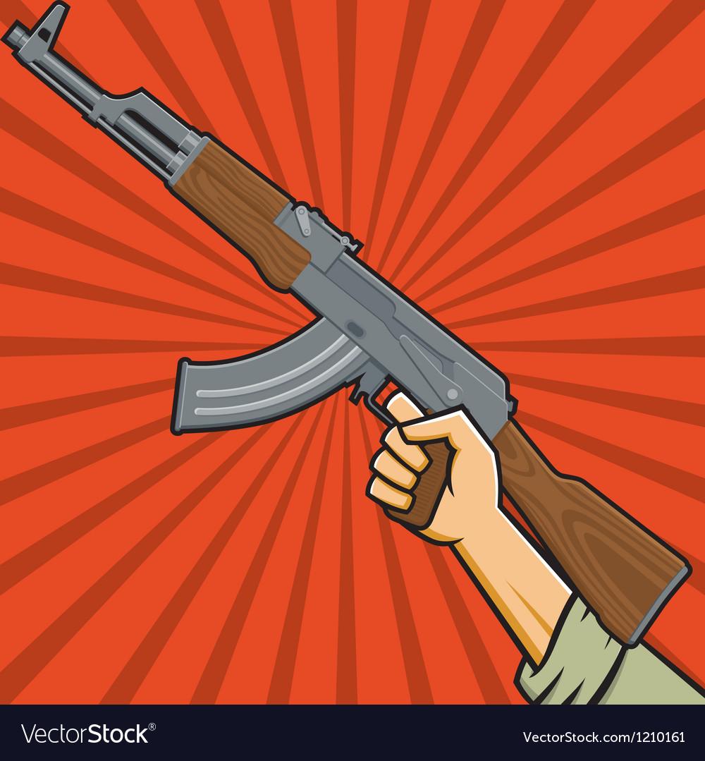 Assault Rifle or Sub-machine Gun vector image