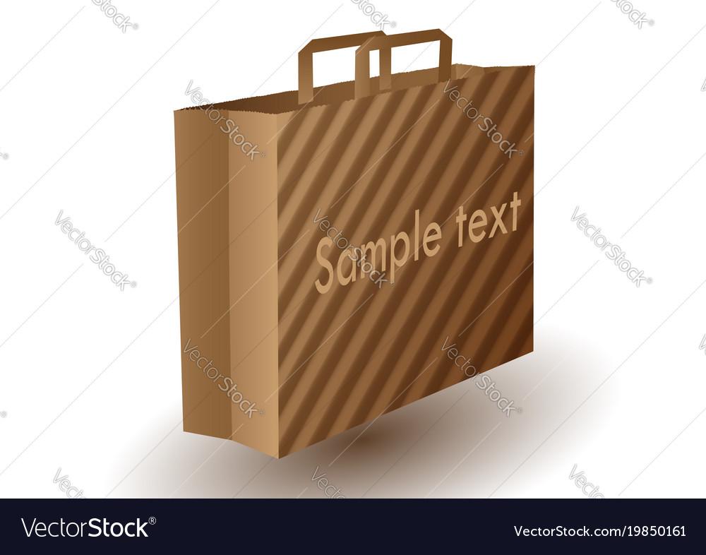 Brown paper bag vector image