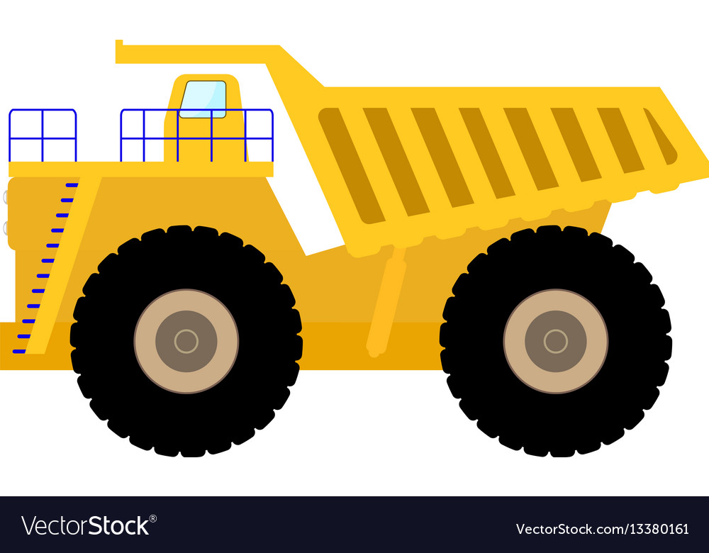 Big Dump Trucks >> Cartoon Big Heavy Dump Truck Royalty Free Vector Image