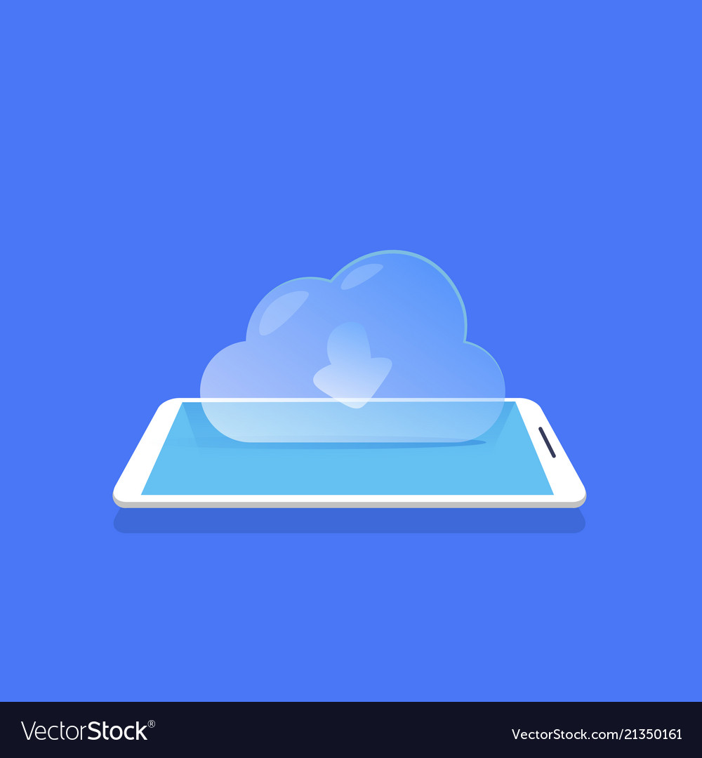Cloud synchronization icon mobile data storage