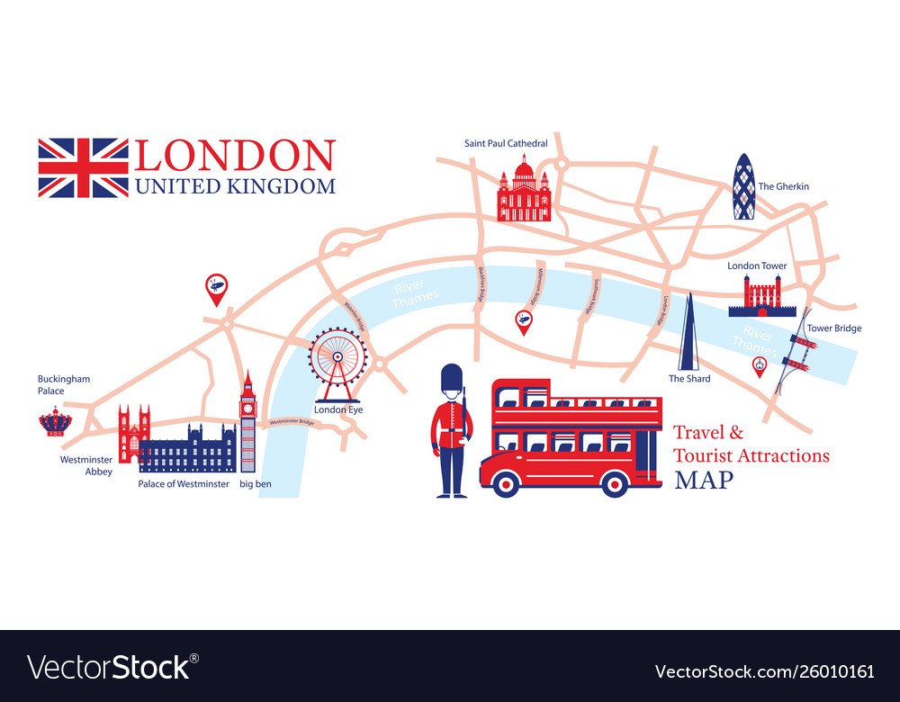 Tourist Map Of London England.London England Travel And Tourist Attraction Map