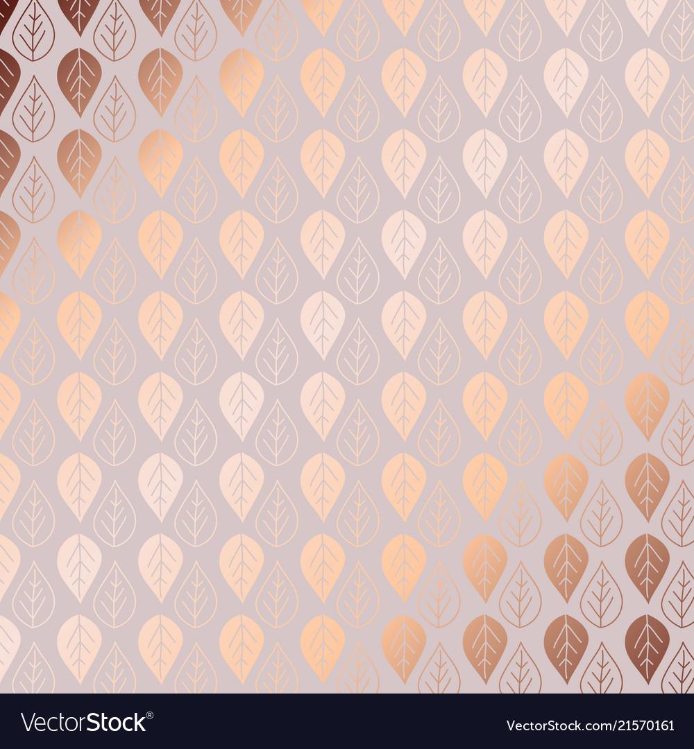 Rose Gold Pattern Unique Decoration
