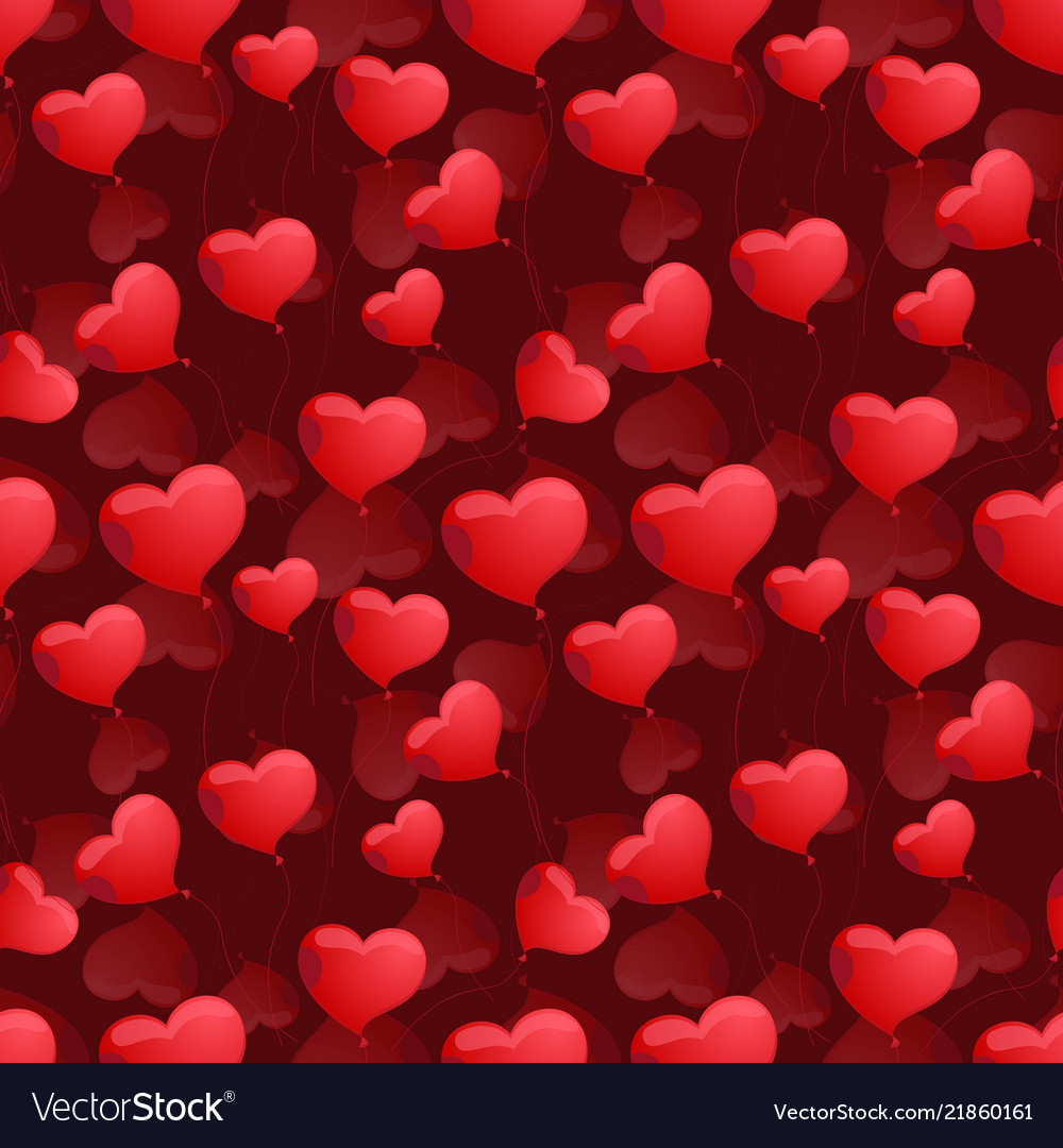 Seamless pattern with hearts on the background