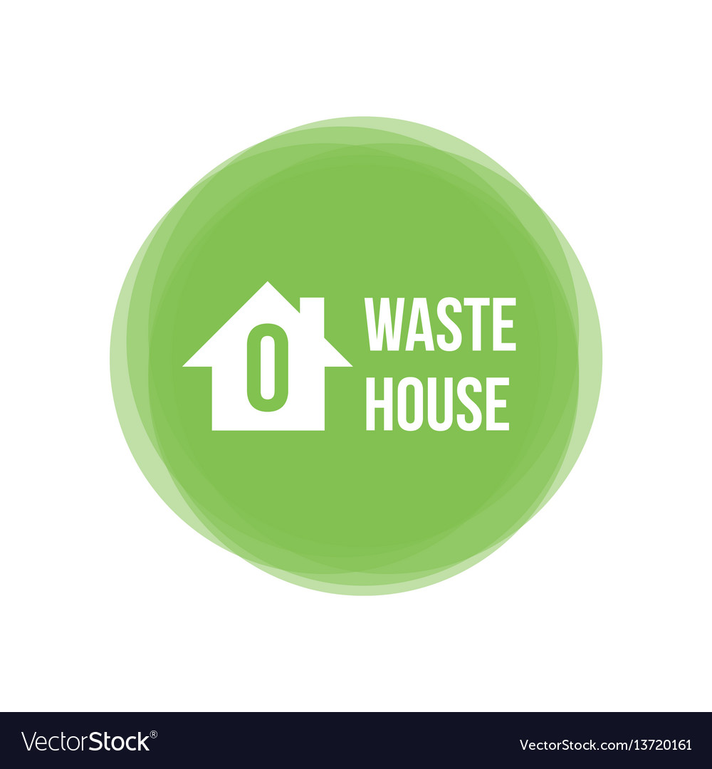 Zero waste house concept icon design element