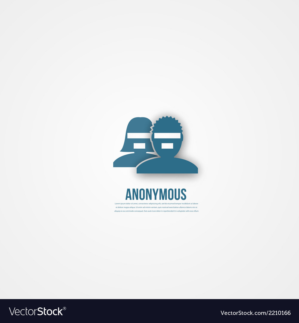Abstact people template Anonymous icon