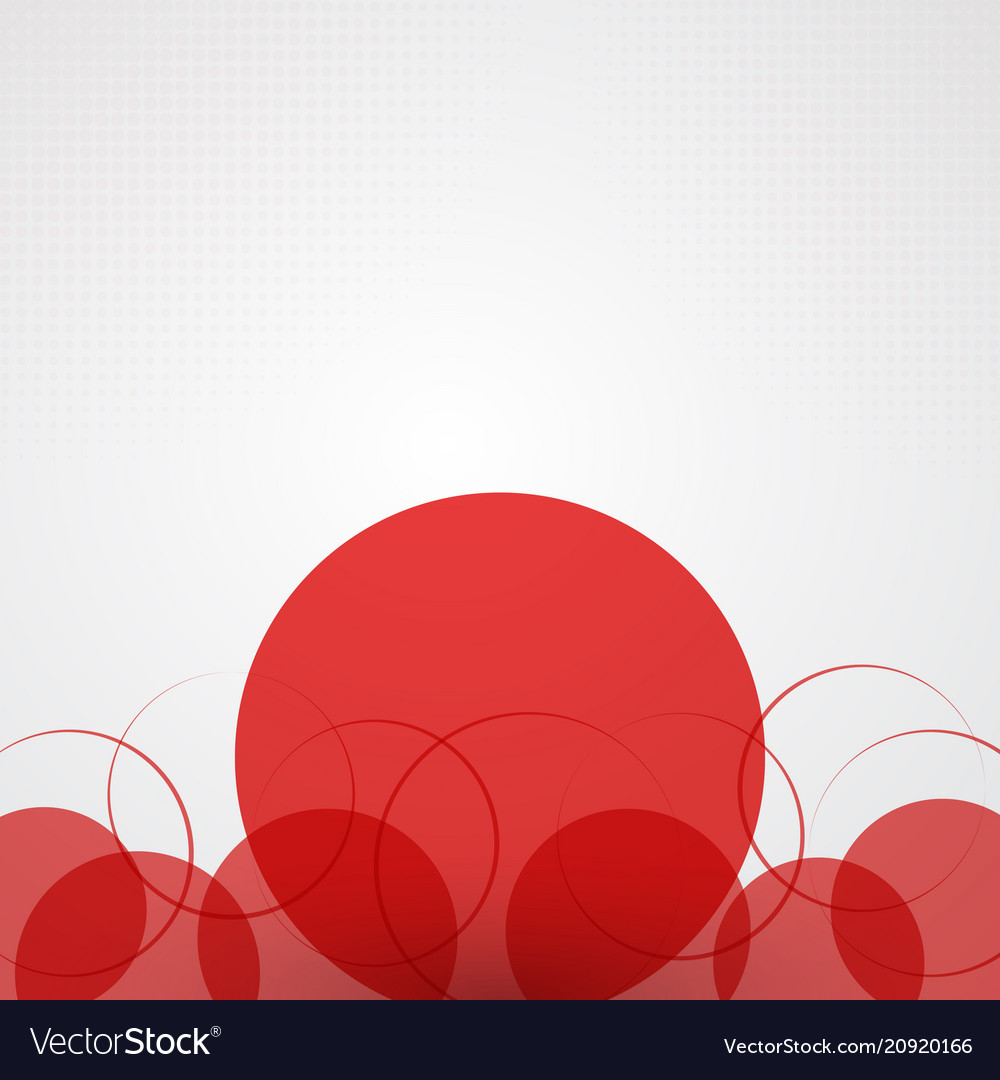 Abstract background with red circles and halftone vector image