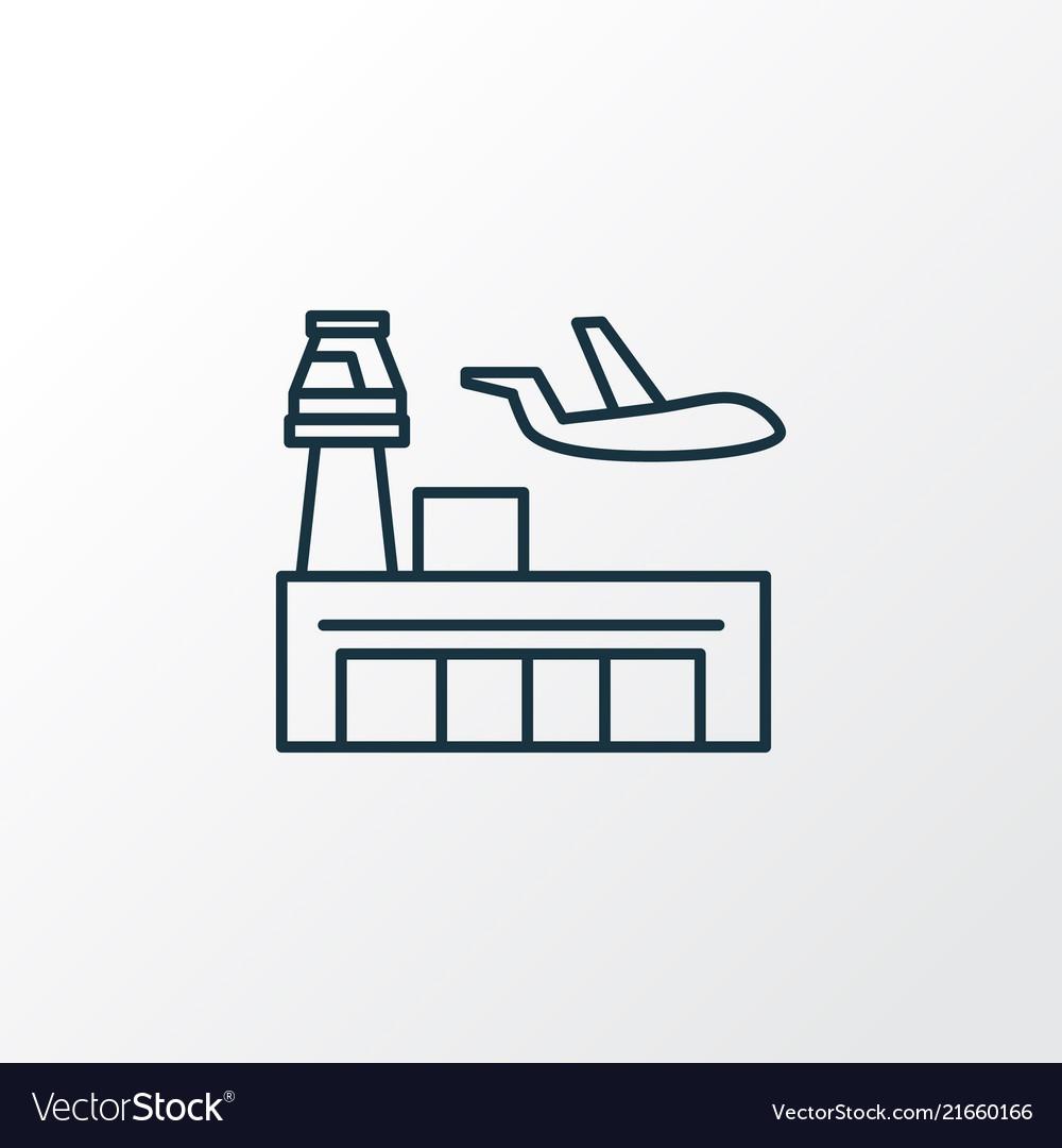 Airport icon line symbol premium quality isolated