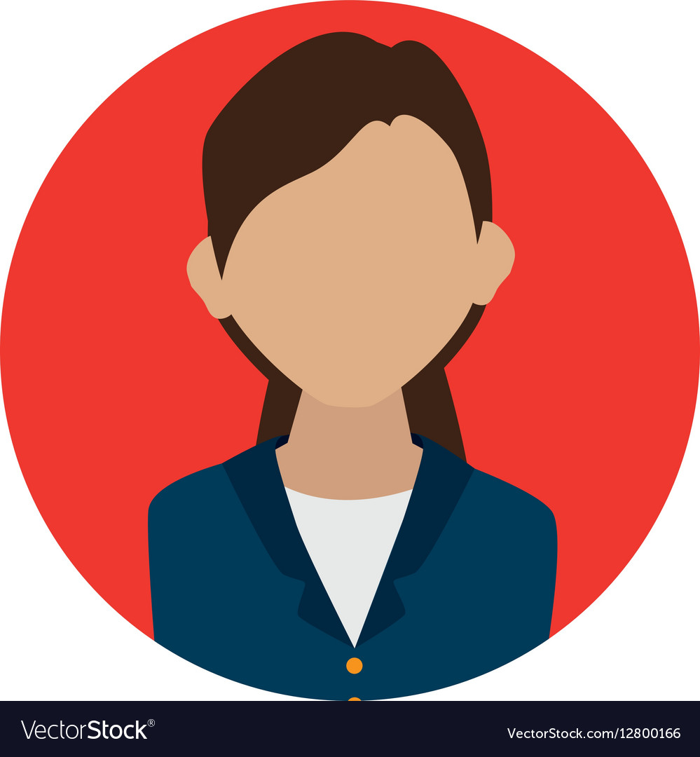 businesswoman character avatar icon royalty free vector