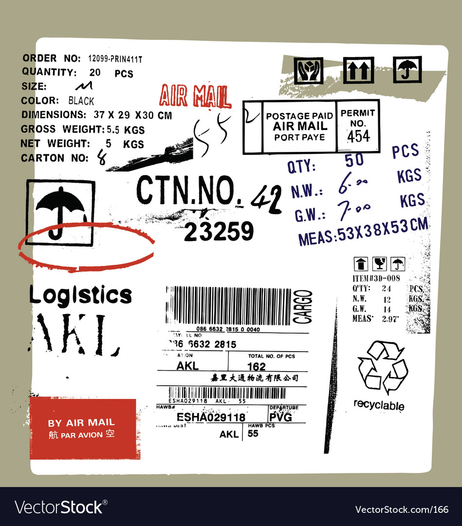 Cargo and freight signs vector image