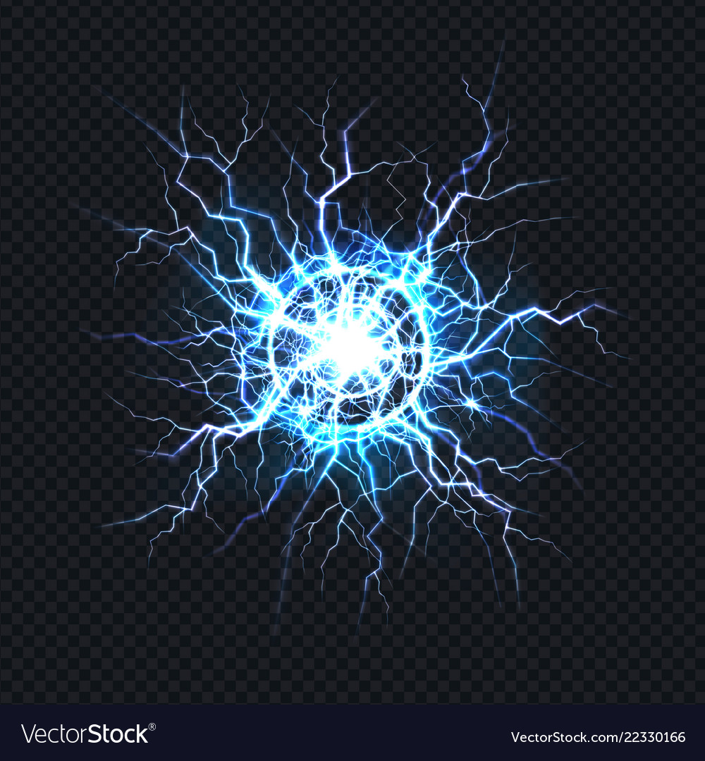 Electrical burst ball lightning realistic